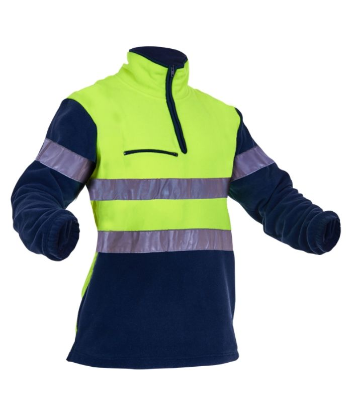 Hi-Vis-D/D-Hoop-Tape-1/2-Zip-Polar-Fleece-pcf1013