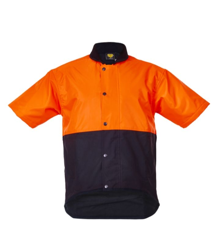 Oilskin Day Only, Short Sleeve, Fleece Lined Vest