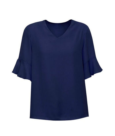 Womens Aria Fluted Sleeve Blouse