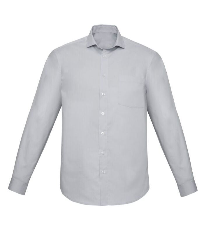 Mens Charlie Classic Fit, Long Sleeve Chambray Shirt