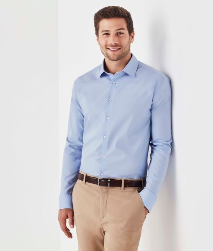 mens-chambray-long-sleeve-shirt-cotton-casual-corporate