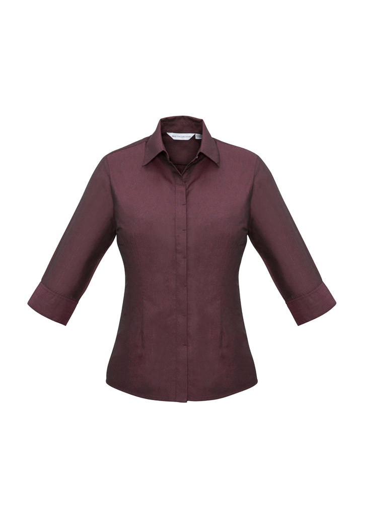 Ladies Hemingway 3/4 Sleeve Shirt-s504lt