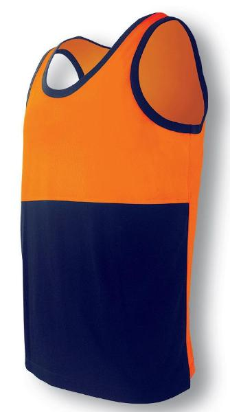H Vis Cotton Back Singlet