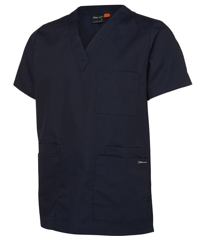 scrubs-tops-nz-jb's-unisex-scrub-top-navy-4srt