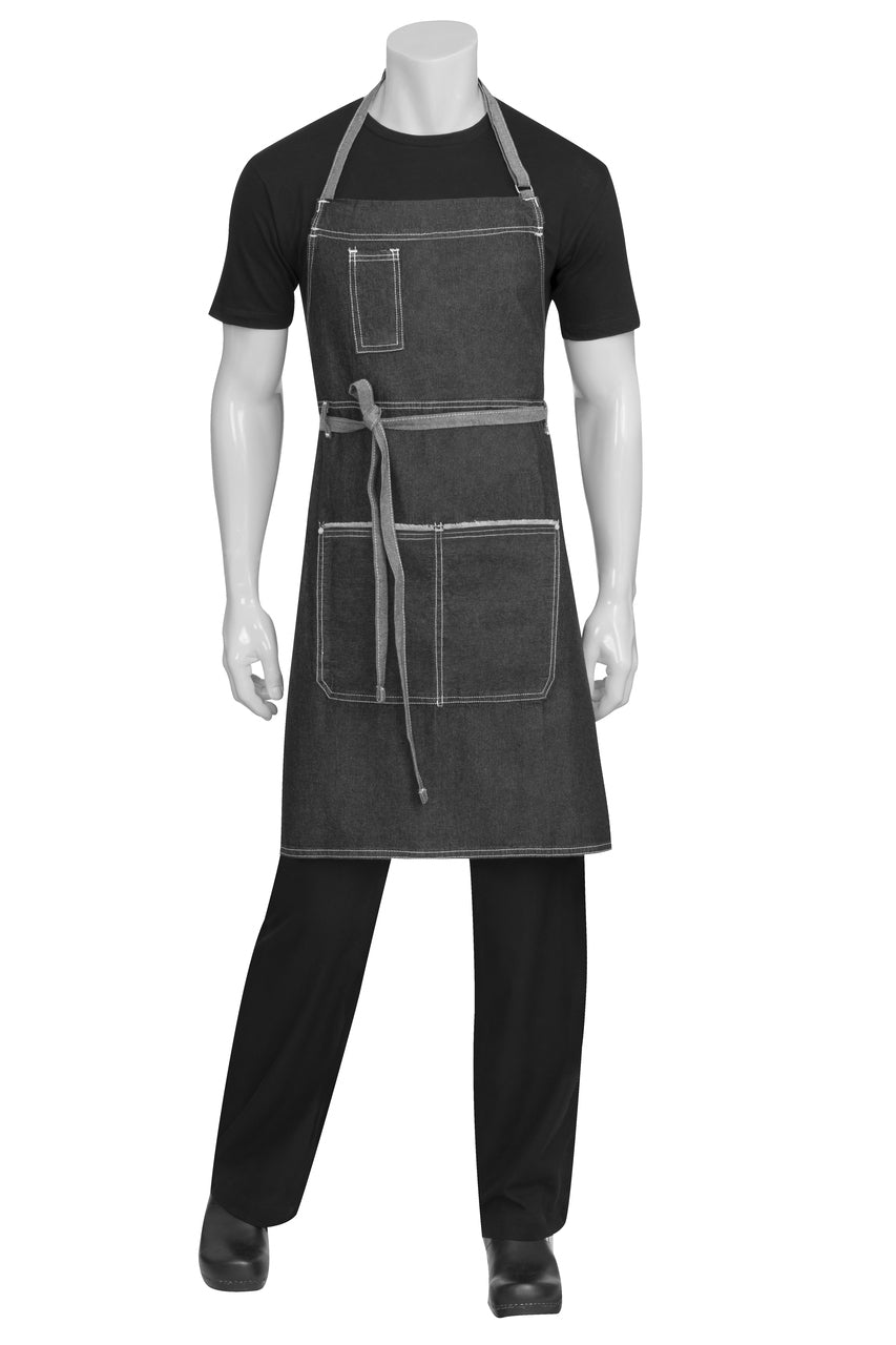 AB041-Bronx-bib-denim-apron-chef-works-full-black-blue-cafe-restaurant