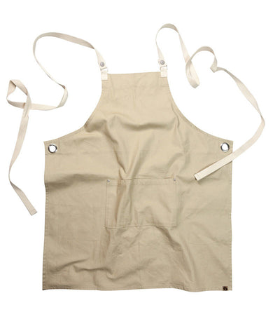 Byron Canvas Cross Over Back Bib Apron