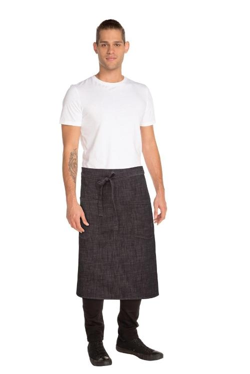 chef-works-corvallis-denim-waist-1/2-apron-cotton-aprons-nz-cafe-restaurant