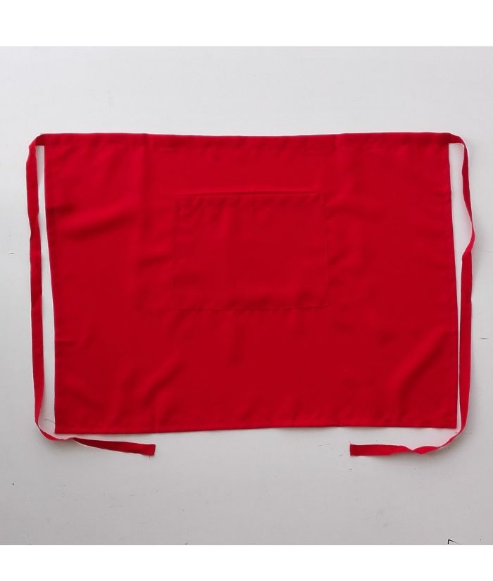 bocini-3/4-waist-apron-WA0630-red-short-aprons-nz-cafe-chefs-kitchen