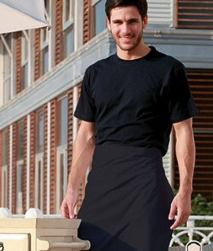half 1/2 waist apron lightweight polyester. uniform for waiters bar staff cafes restaurants