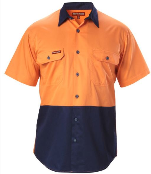 Koolgear Hi Vis, Two Tone, Vented, Cotton Drill Shirt