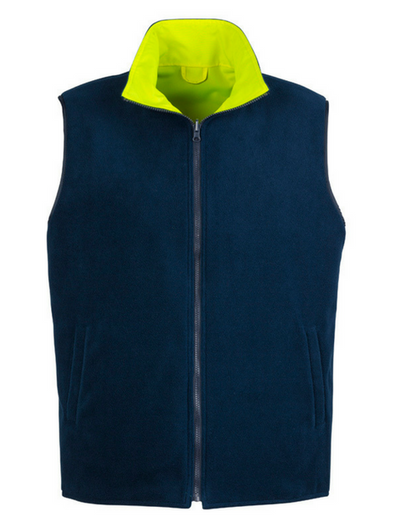 Mens Hi Vis Lightweight Fleece Lined Vest