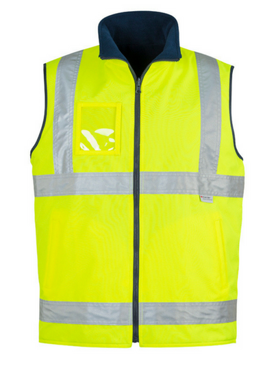 Mens Hi Vis Lightweight Fleece Lined Vest-zv238