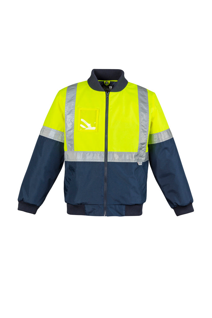 workwear-jackets-zj351-Mens Hi Vis Quilted Flying Jacket Syzmic