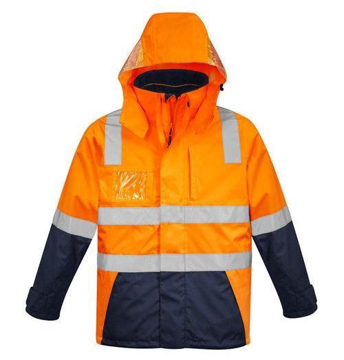 Mens Hi Vis 4 in 1 Waterproof Jacket ZJ530