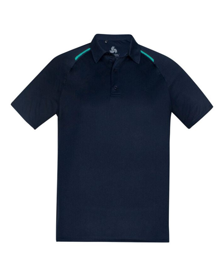 Biz Collection Academy Mens Short Sleeve Polo. Colour Silver/Charcoal  P012MS