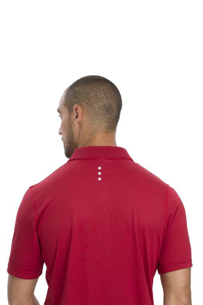 AP220 Adult Unisex Classic Lightweight Polo - Team Red - Back