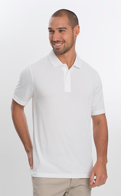 AP220 Adult Unisex Classic Lightweight Polo - White