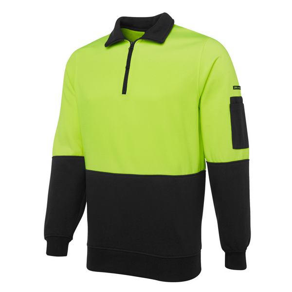 Hi Vis 1/2 Zip Fleecy Sweater-jb's-6hvfh