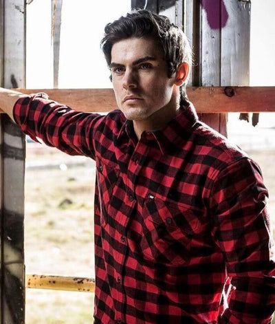 bad-workwear-flannel-check-long-sleeve-shirt-flannelette-red-blue
