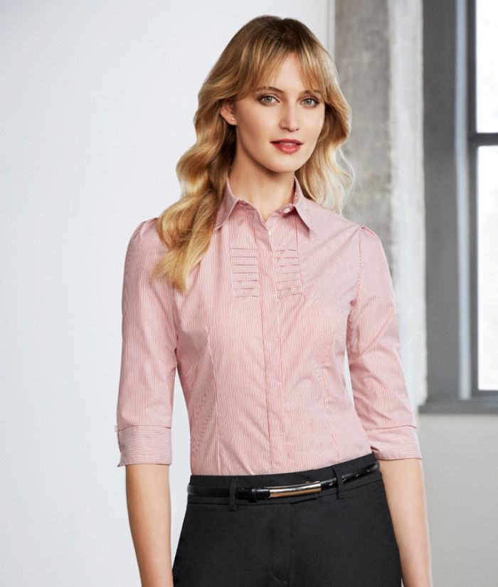 ladies-business-uniform-shirt-3/4-sleeve-berlin-s121lt