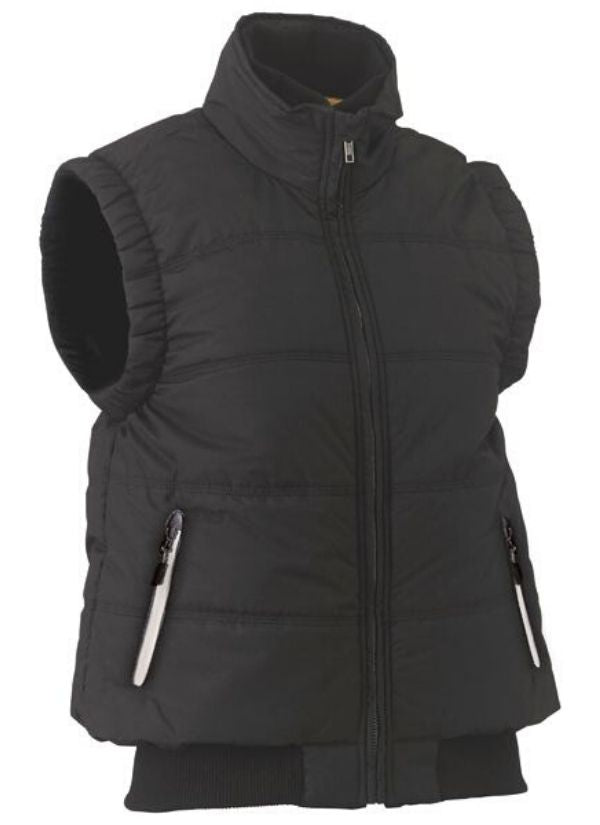 womens bisley puffer vest  BVL0828. Black or Navy