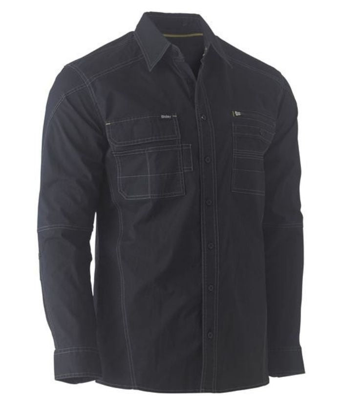Flex & Move Utility Work Long Sleeve Shirt-bs6144-bisley-navy