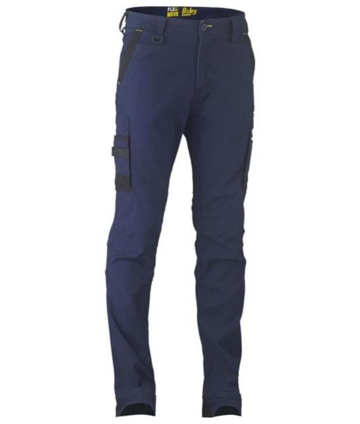 Bisley Flex & Move Mens Stretch Cargo Utility Pants. Stone,