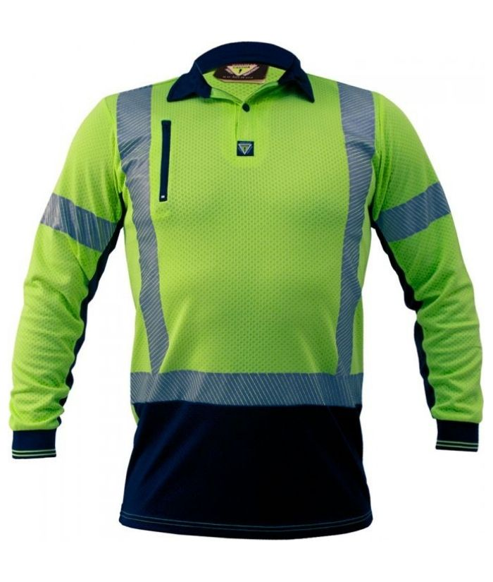 caution-pcp1263-day-night-hi-vis-microvent-polo-long-sleeve-yellow