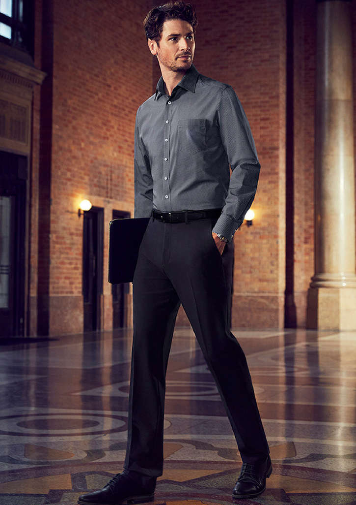 Mens Slim Fit, Flat Front Pant-70716R-biz-corporate