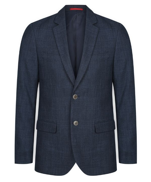 mens-suit-jackets-nz-Gloweave-Claremont Textured Jacket. Colour: Steel. Code: 1887MJ Sizes: 92 - 132