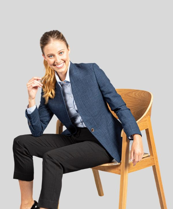 womens suit jackets nz  Gloweave Claremont Womens Crop Jacket. Code: 1888WJ. Colour: Steel. Sizes: 6 - 26