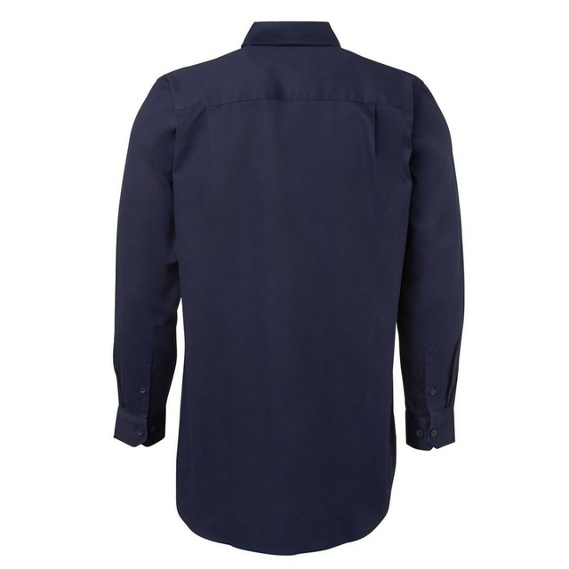 Closed Front Drill Long Sleeve Shirt-6WSCF
