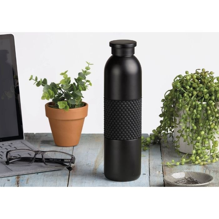 corporate-client-gifts-christmas-chill-insulated-bottle-black-550ml-tube-bottle