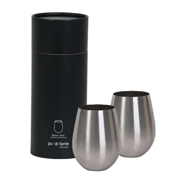 corporate-client-gifts-christmas-stemless-stainless-steel-wine-glass-set