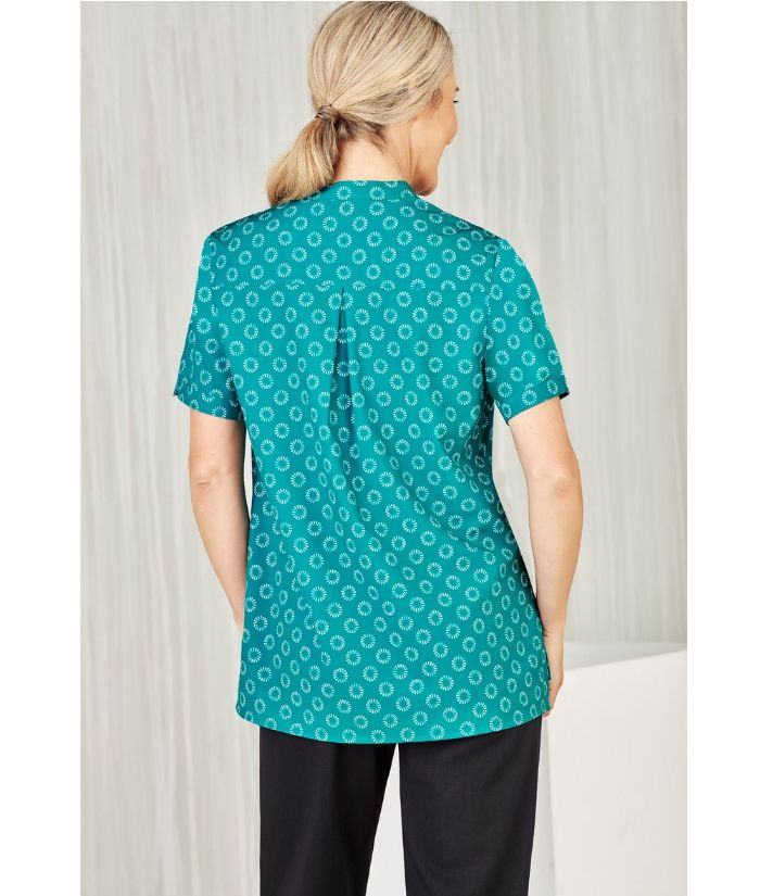 womens-bizcare-easy-stretch-daisy-print-tunic=cs950ls-housekeeping-rest-home