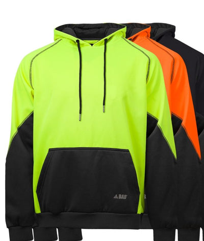 Bad Essential Hi Vis Fleece Hoodie with 3M Scotchguard