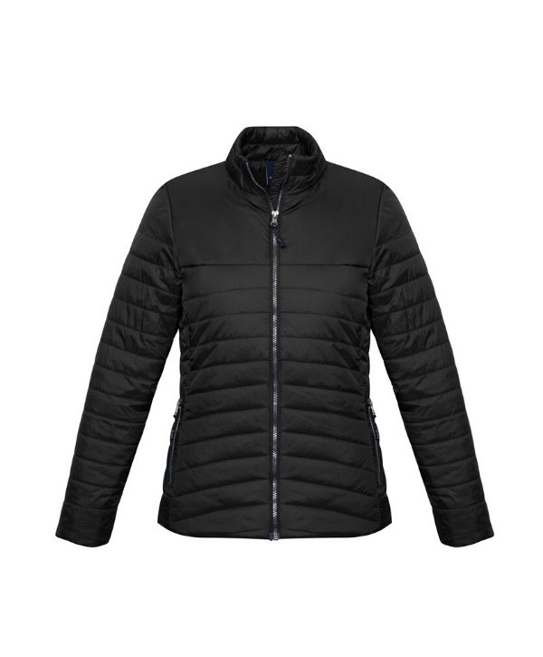 Womens puffer jackets Biz Collection Expedition J750L Colour-Black, Navy Sizes- XS - 2XL