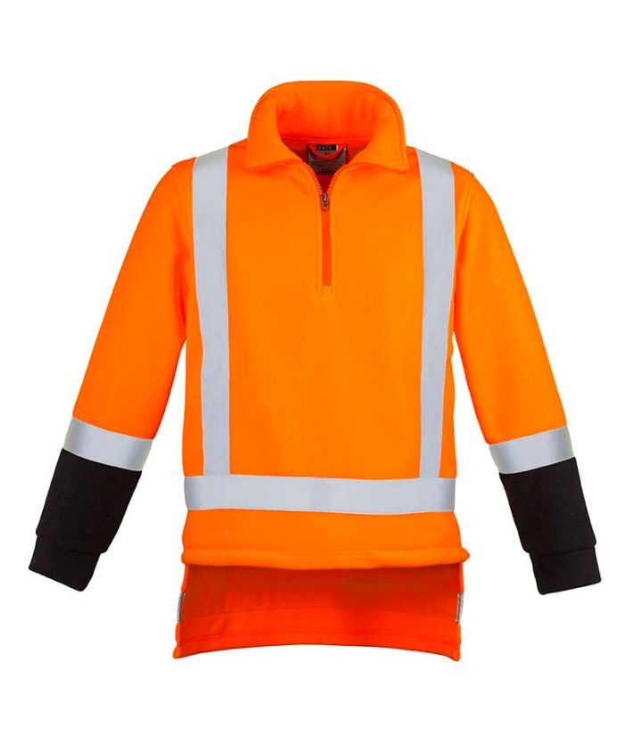 TTMC-Fleece -Men's-Syzmik TTMC-W17 Fleece Jumper ZT463. Orange/navy Sizes: S - 5XL, 7XL