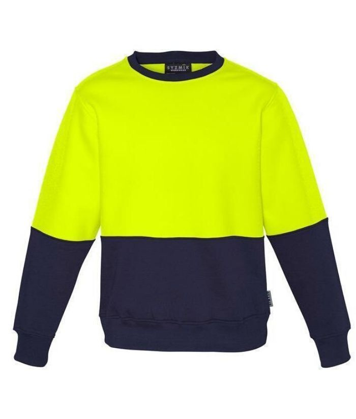 workwear-fleece-zt465-Unisex Hi Vis Crew Sweatshirt