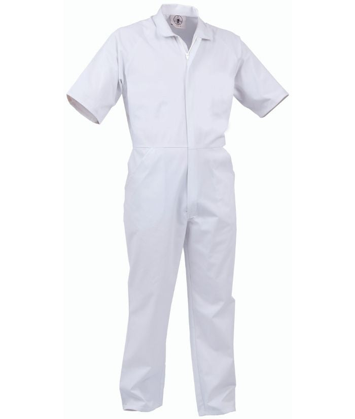 food-industry-white-overall-short-sleeve-nylon-zip-lightweight