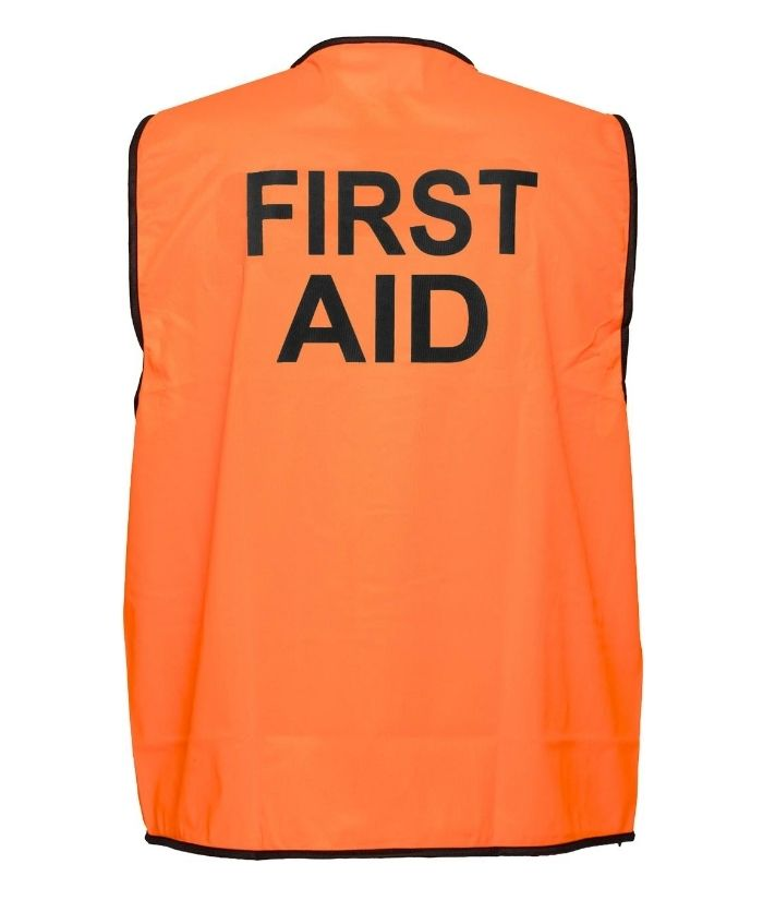 hi-vis-day-only-FIRST AID-safety-vest-YELLOW-mv117.
