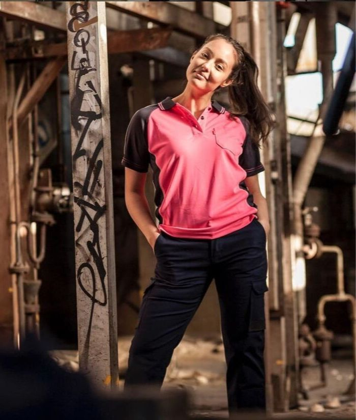 bad-workwear-women's-polo-pink-short-sleeve-construction-building-uniform