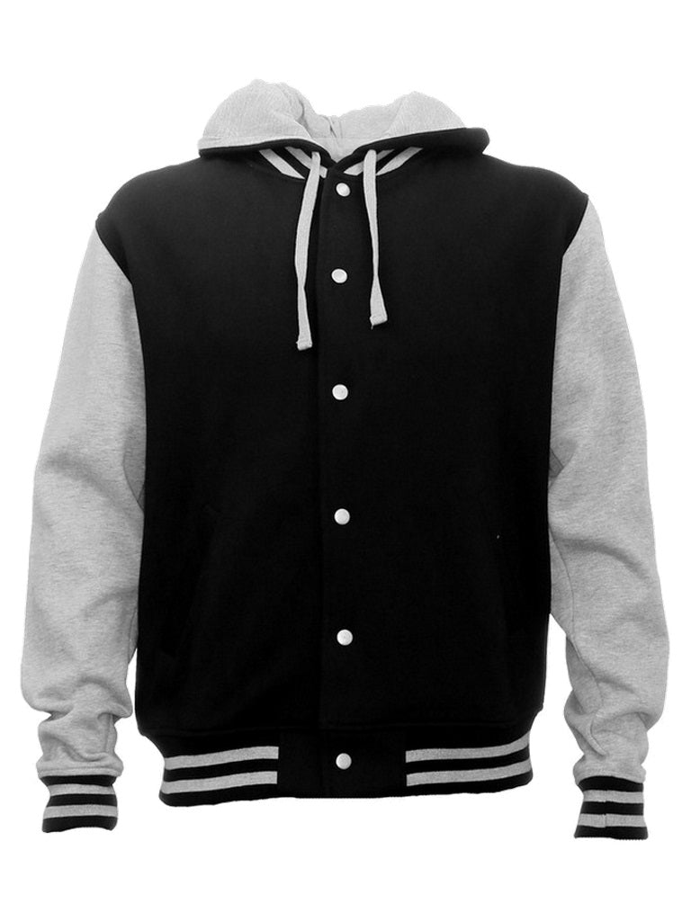 hoodies-hlm Hooded Letterman Jacket - Unisex-leavers-builders-sports-teams-teamwear