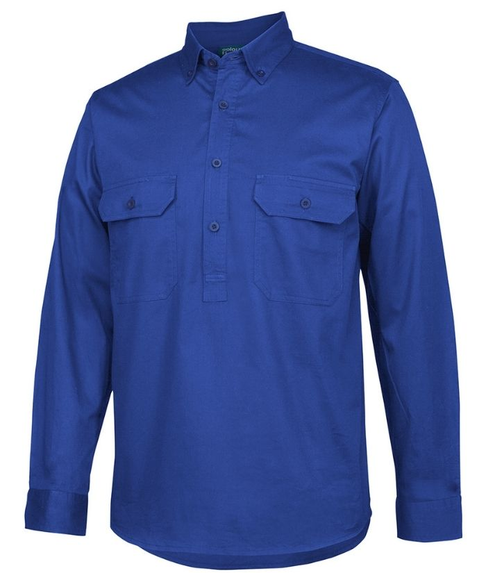 Longreach Closed Front Drill Long Sleeve Shirt