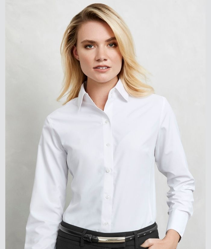 ladies-ambassador-long-sleeve-shirt-green-uniform-blouse-S29520-white