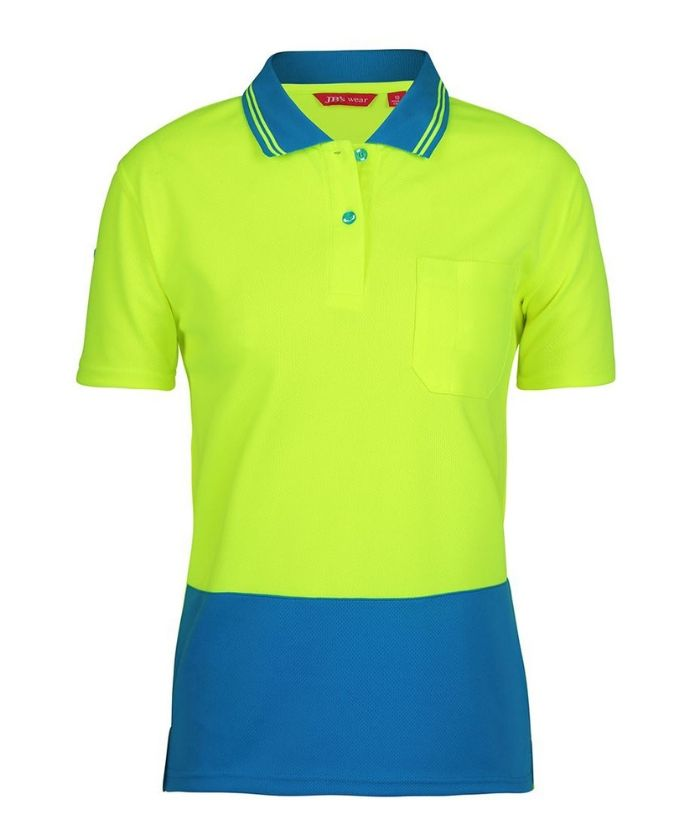 Ladies Hi Vis S/S Comfort Polo