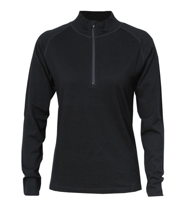 womens-mens-alpine-merino-1/2-zip-black-M902-