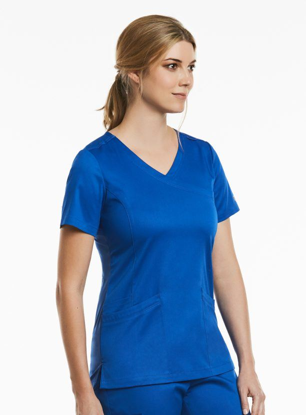 matrix-mock-wrap-red-scrub-top-uniform for vets, nurses, beauty therapists