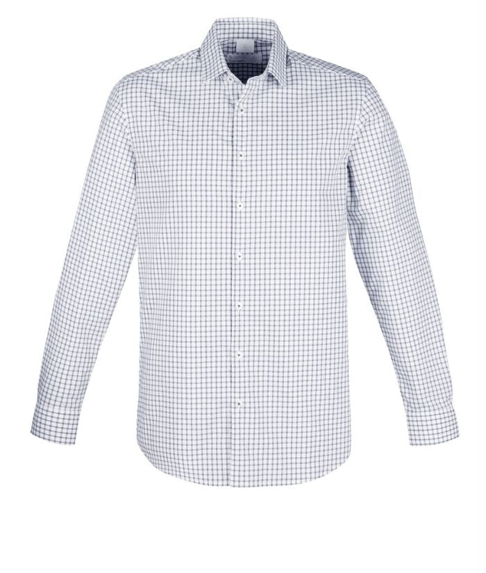 mens-long-sleeve-noah-biz-corporate-100_-cotton-shirt-RS070ML-storm-blue-white-check