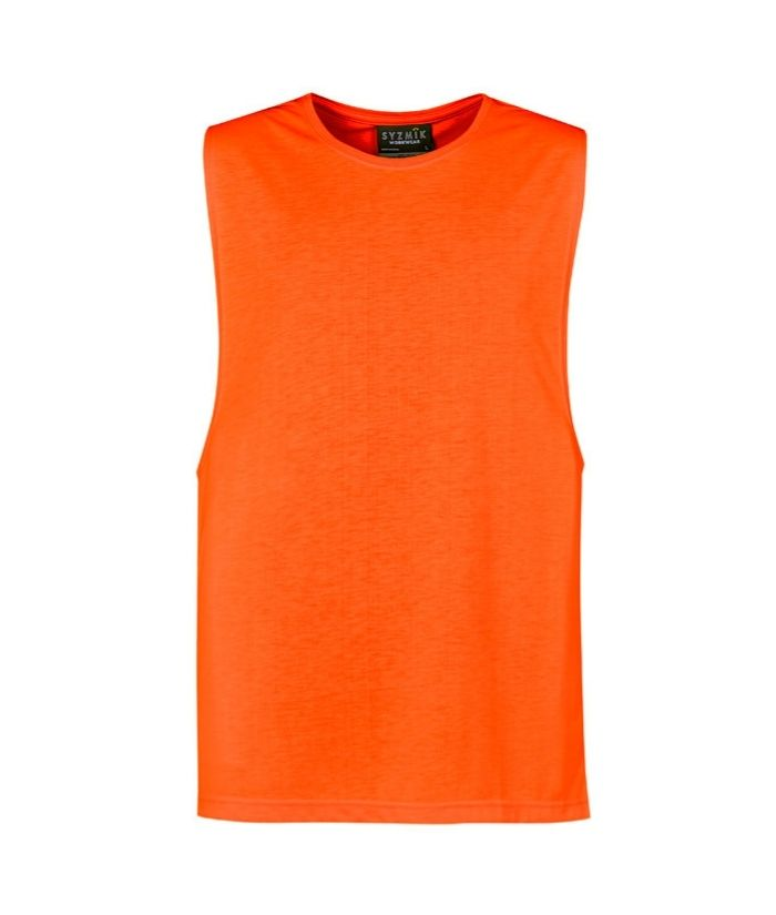 Mens Hi Vis Sleeveless Tee Shirt